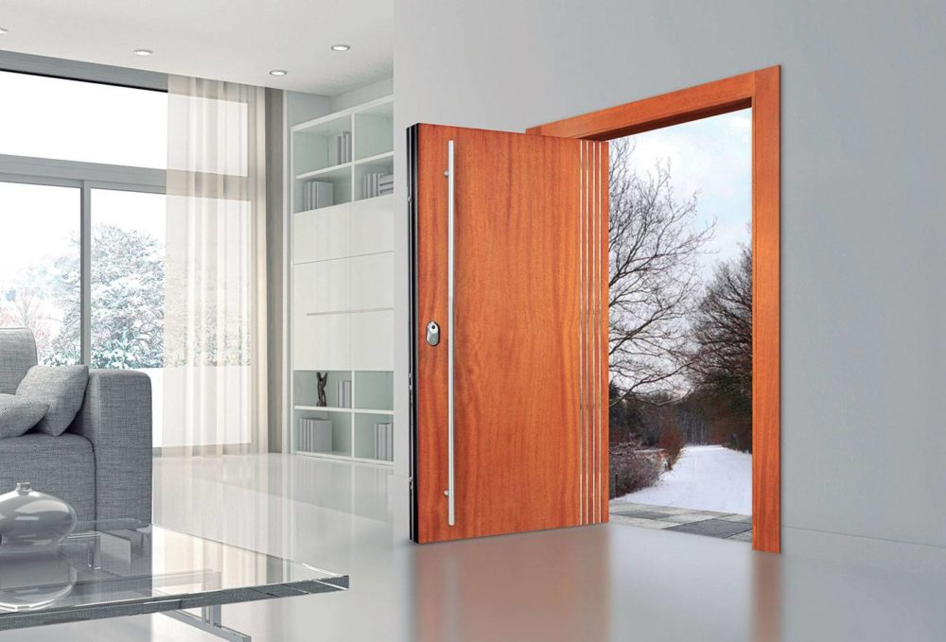 Puertas acorazadas puertas a medida agloma for Puertas de madera exterior modernas precios