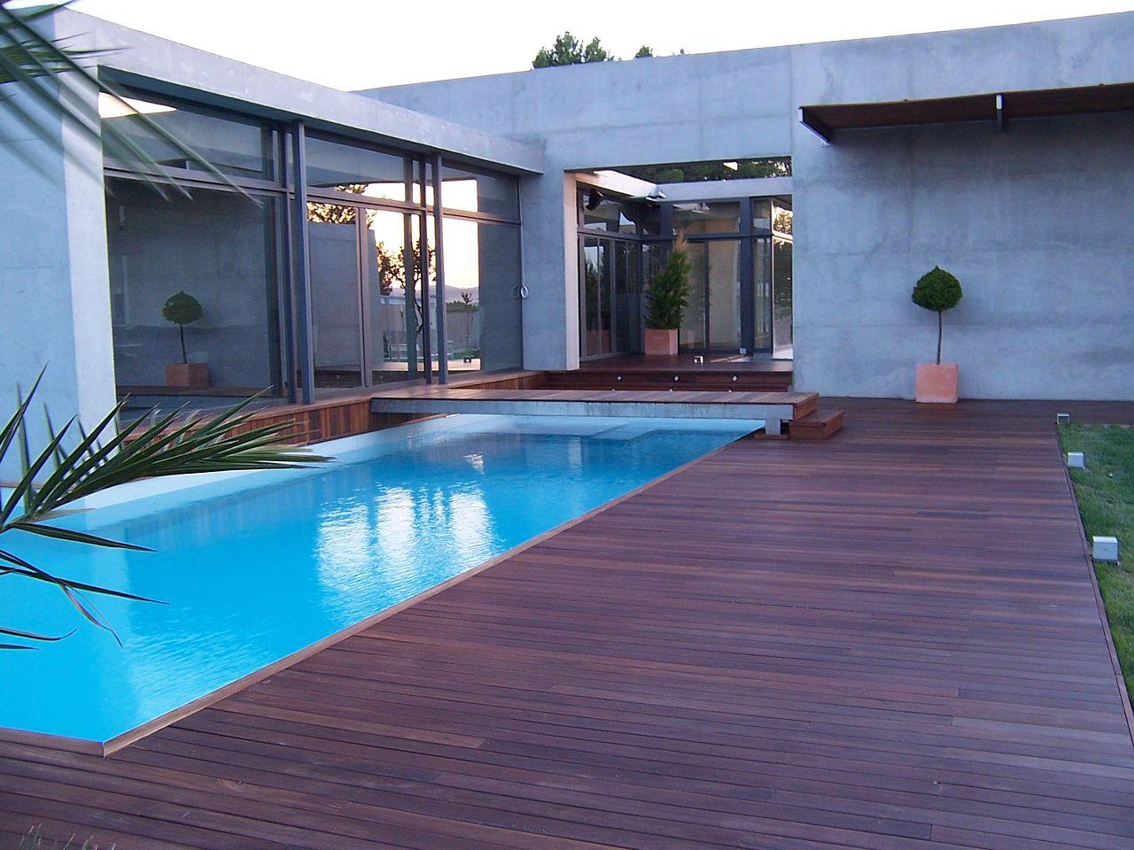 Tarima exterior agloma - Suelos piscinas exteriores ...