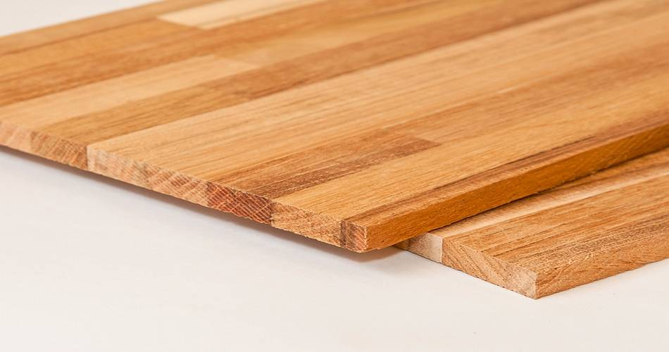 Tablones de madera alistonados  Muebles a medida
