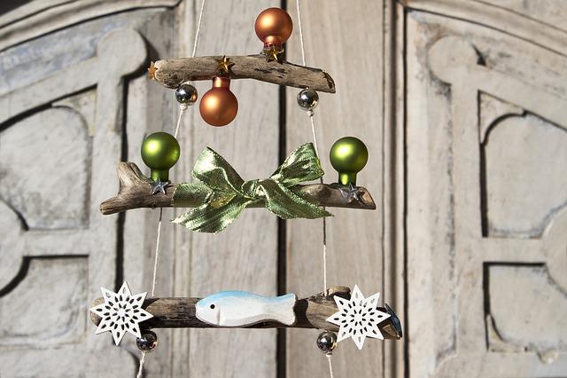 Especial decoración navideña con madera